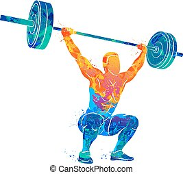 strong man powerlifting - Abstract strong man lifting...