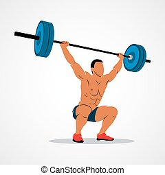 strong man powerlifting - Strong man lifting weights...