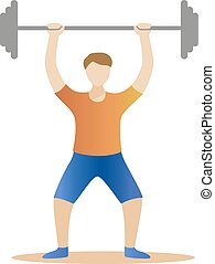strong man powerlifting. Weight lifter athlete Vector illustration
