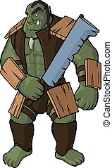 Strong orc with sword