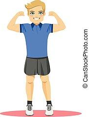 Strong Sport Man Standing