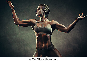 Strong sports woman