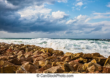 Strong storm in the Mediterranean Sea