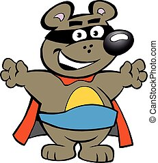 Strong Super Hero Bear