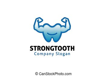 Strong Tooth Design Illustration