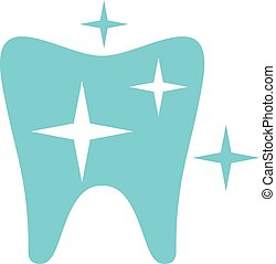 Strong tooth logo icon, flat style.