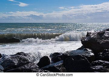 Strong waves at sea