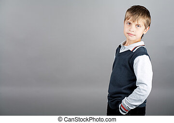strong willed boy - young caucasian teenager boy in sweater ...