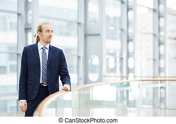 Strong-willed young businessman - Content confident strong-...