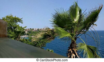 Strong wind of Antalya - Strong wind on the quay of Antalya...