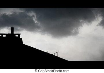 Strong wind, rain