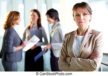 Strong woman - Portrait of a mature business lady standing...