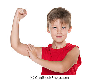 Strong young boy