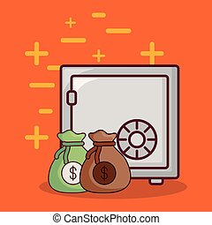 Strongbox and money design