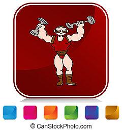 Strongman Button
