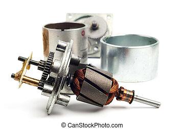 strony, elektryczny motor