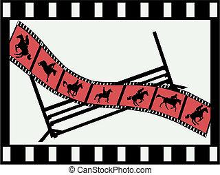 strook, verbindingsdraad, film, tonen