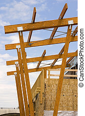 strookwandelgalerij, dak, gebouw stek