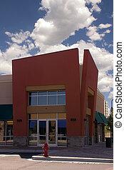 strookwandelgalerij, -, hoek winkel, restaurant