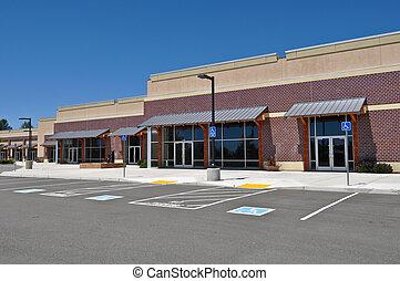 strookwandelgalerij, winkelcentrum, parkeerplaats