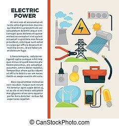 stroom, poster, reclame, staal, tekst, gebruik, obtainment