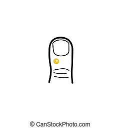 Struck wart hand finger medical icon in a minimalist style