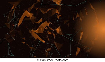 Structural Fragments - Abstract background with numbers and...