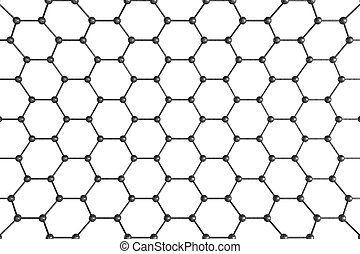 Structural Mesh. Molecular Structure Isolated on White.