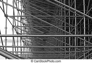 Structural steel framework - Steel beams in construction of...