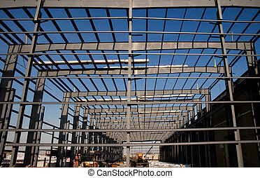 Structural Steel Girders - Steel Frame of new building ...