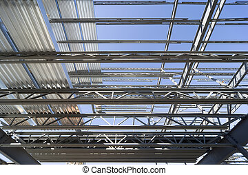 Structural steel roof - New construction of a steel roof...