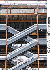 structural work with staircase