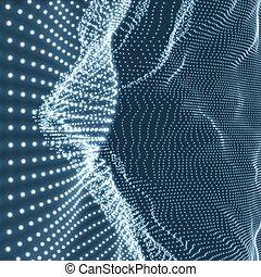 structure., グラフィック, ネットワーク, 格子, コミュニケーション, 抽象的, particle., イラスト, ∥あるいは∥, バックグラウンド。, サイバースペース, 格子, 社会, design., 3d, 技術, surface., 科学