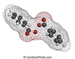 structure., 過酸化物, ニキビ, 化学物質, 待遇, benzoyl, 薬