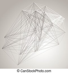 structure., abstract, grayscale, verbinding, achtergrond, ...