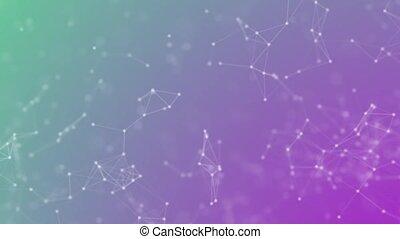structure., abstrakcyjny, połączenie, ruchomy, sieć, ...