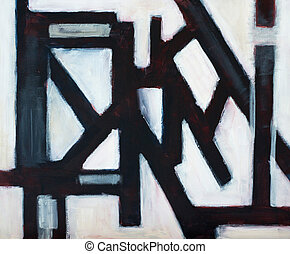 structure - an abstract painting