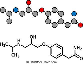 structure., blocker), droga, químico, presión, alto, ...