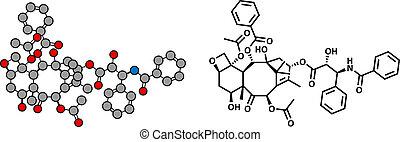 structure., cancer, paclitaxel, chimique, drogue, ...