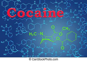 structure., chemische , übertragung, cocaine., molekular,...