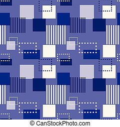 Structure collapse seamless pattern. Suitable for screen,...