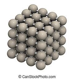 structure., cristal, metal, (fe, ferro, ferrite)