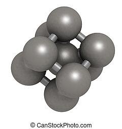 structure., cristallo, metallo, (fe, ferro, ferrite)