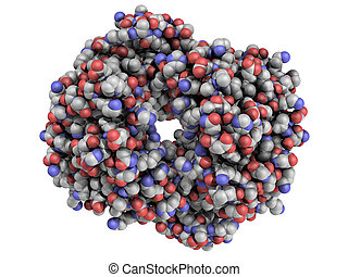 structure., hémoglobine, molécule, chimique, humain,...