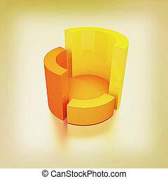 structure., illustration., 型, 抽象的, style., 3d