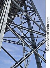 Structure iron bridge