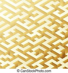 structure., isometric, volume., ilusão, óptico