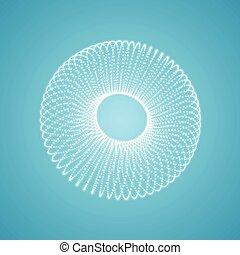 structure., lattice., illustration., torus, 3d, consister, connexion, vecteur, grille, points., moléculaire, technologie, style., design.