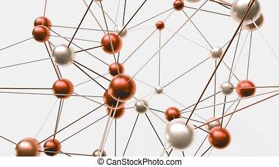 structure., moléculaire, 4k, futuriste