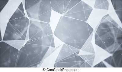 Structure molecule and communication. Dna, atom, neurons Loop Background Clean White presentation. Scientific concept for design. Connected lines with dots. Medical, technology, chemistry, science
